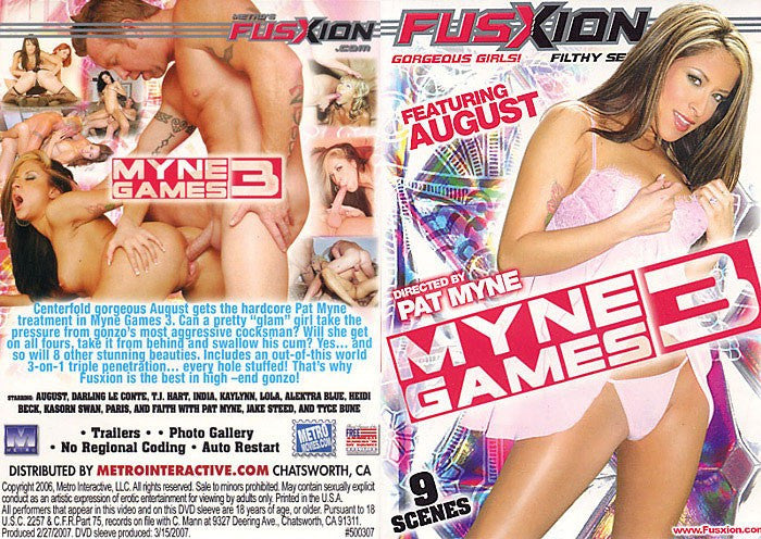 Myne Games #3 (august) Fusxion Adult XXX Sealed DVD