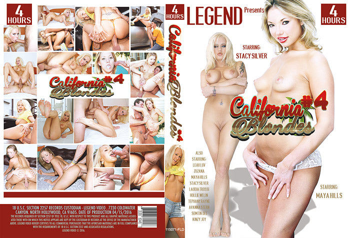California Blondes #4 - 4 Hour Legend 2016 DVD In Sleeve