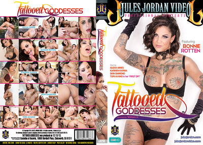 Tattooed Goddesses Jules Jordan - (Bonnie Rotten) Sealed DVD