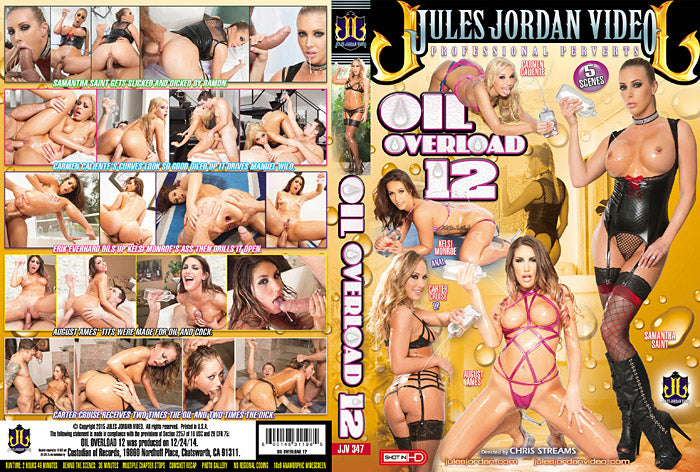 Oil Overload #12 (august ames) Jules Jordan Sealed DVD