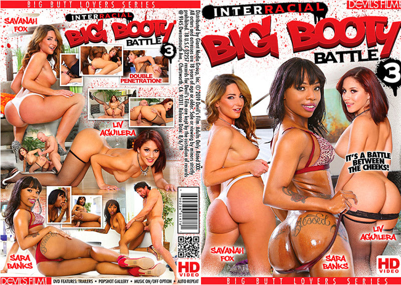 Interracial Big Booty Battle 3, Devils Film Sealed DVD