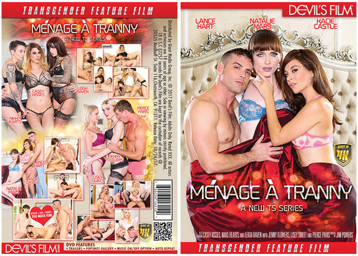 Menage a Tranny #1 - Devils Film Sealed Transsexual DVD