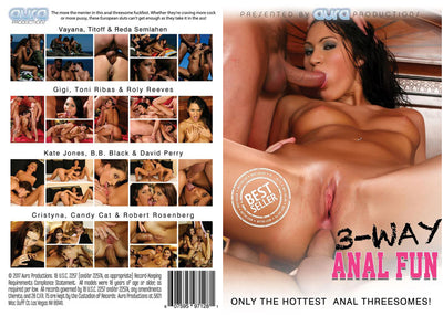 3 Way Anal Fun, Aura - All Sex Sealed DVD