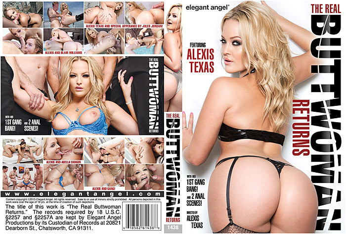 The Real Buttwoman Returns Elegant Angel (alexis texas) Sealed DVD
