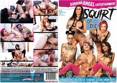 Squirt Or Die! Burning Angel   Sealed DVD