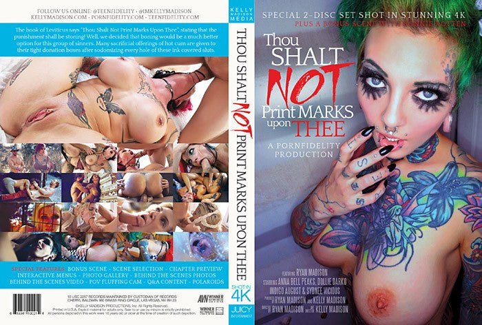 Thou Shalt Not Print Marks - Porn Fidelity 2 Sealed DVD Set
