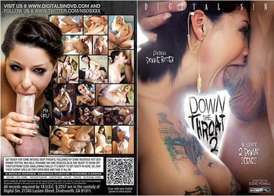 Down The Throat 2 Digital Sin - (Bonnie Rotten) Sealed DVD