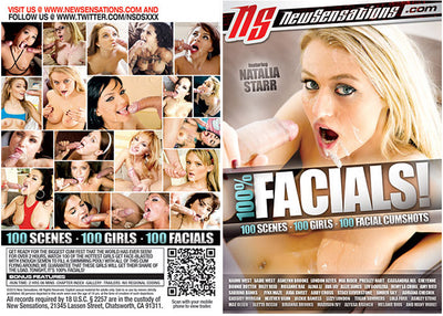100% Facials New Sensations Sealed DVD