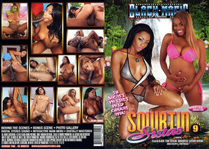 Squirtin Sistas #9 - Black Magic Sealed Adult DVD