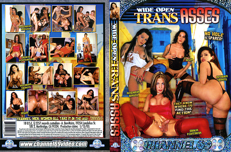 Wide Open Trans Asses 1 Channel 69 - Specialty Sealed DVD