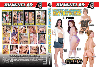 Dirty & Kinky Mature Women 4 Pack 1 (4 Disc Set), Channel 69 - 4 Pack Sealed DVD