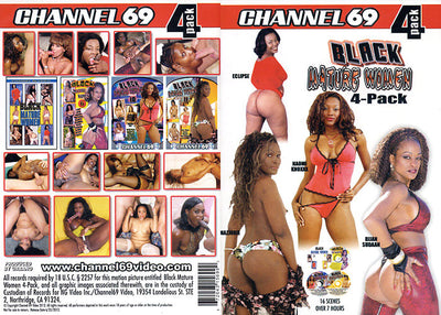 Black Mature Women 4 Pack 1 (4 Disc Set), Channel 69 - 4 Pack Sealed DVD
