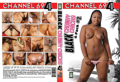 Black Chunky Chicks 4 Pack 2 (4 Disc Set), Channel 69 4 Pack Sealed DVD