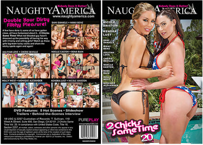 2 Chicks Same Time 20 Naughty Americ Sealed DVD