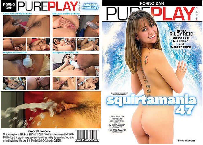 Squirtamania #47 (riley reid) Porno Dan 2016 Sealed DVD