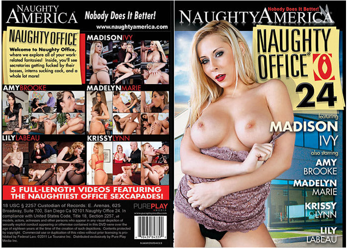 Naughty Office #24 Madison Ivy - Naughty America - Sealed DVD