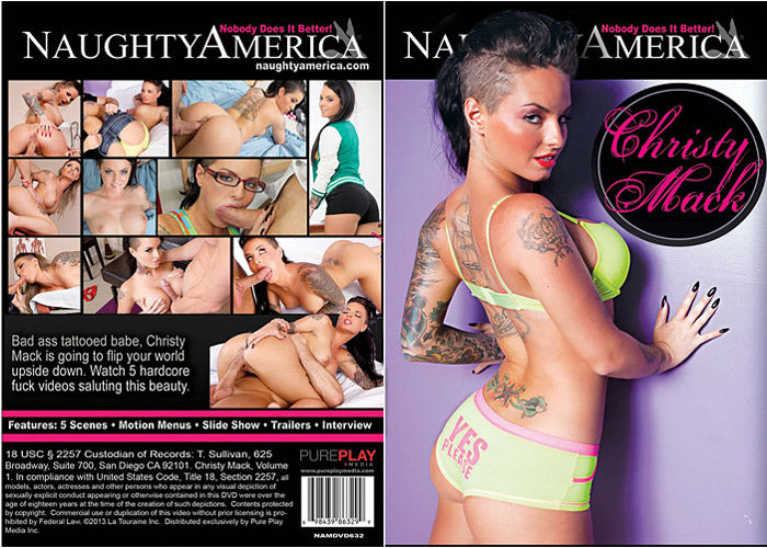 Christy Mack - naughty america - Sealed DVD