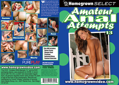 Amateur Anal Attempts 13 Homegrown - Amateur (Anal) Sealed DVD