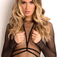 Rene Rofe Sexy Lingerie Body Conversation Set Black S/M