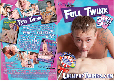 Full Twink (3 Disc Set) Gay Multi Pack Sealed DVD