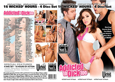 Addicted To Dick Too (4 Disc Set) Wicked 4 Pack - Lowered Sealed DVD