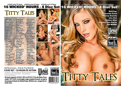 Titty Tales (4 Disc Set), Wicked 4 Pack - Lowered Sealed DVD