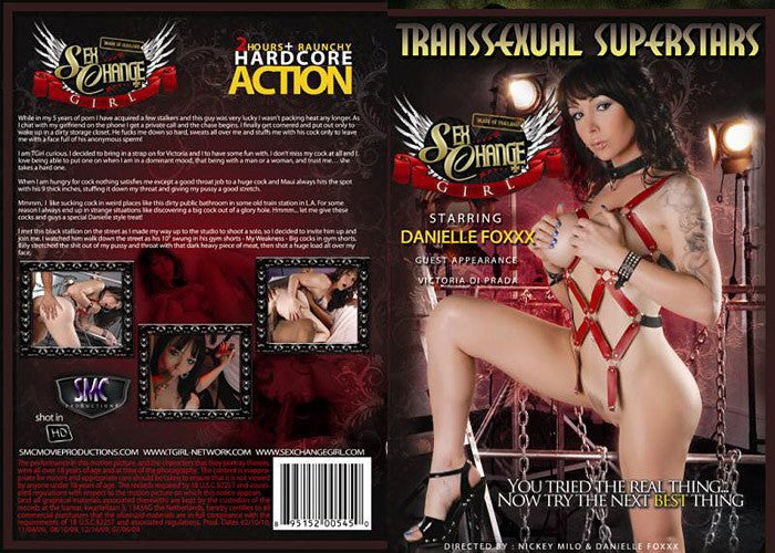 Sex Change Girl Danielle Foxxx - Transsexual Superstars Sealed Transsexual DVD