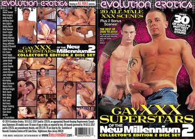 Gay XXX Superstars Of The New Millennium 2 (2 Disc Set) Evolution Erotica - All Sex Sealed DVD (Special)