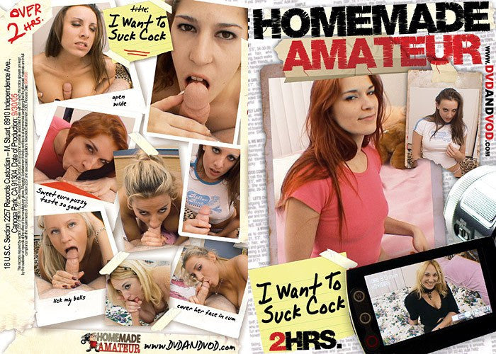 I want to suck Cock #1 - Homemade Amateurs Adult XXX DVD