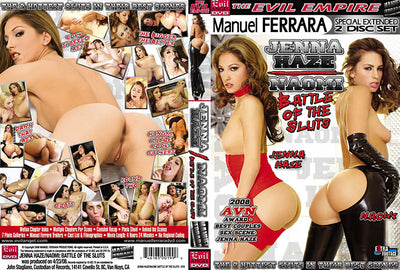 Battle Of The Sluts 1: Jenna Haze / Naomi (2 Disc Set) Evil Angel - Sealed DVD