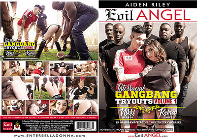 Interracial Gangbang Tryouts Evil Angel - 2018 (gangbang) Sealed DVD
