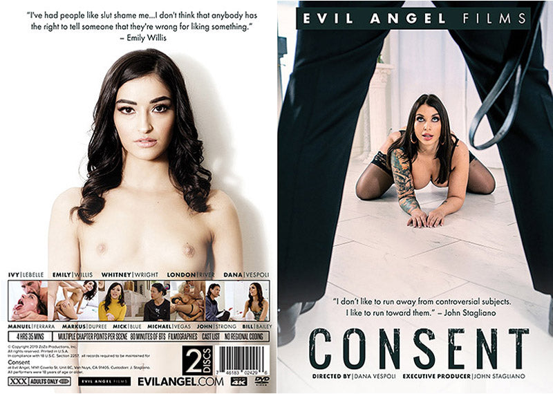 Consent (2 Disc Set) Evil Angel - 2019  - Sealed DVD