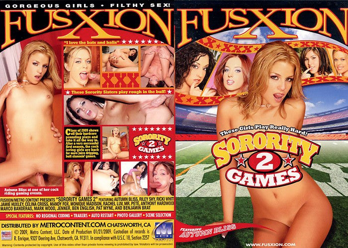 Sorority Games #2 - Fusxion Adult XXX Sealed DVD