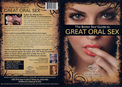 Sizzle! The Better Sex Guide to Great Oral Sex Sinclaire Institute Sealed DVD