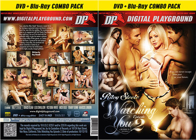 Riley Steele: Watching You 2 (Blu-Ray + DVD) DP DVD + BR Combo Sealed DVD