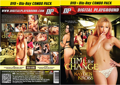 Kayden Kross: Time For Change (Blu-Ray + DVD) DP DVD + BR Combo Sealed DVD
