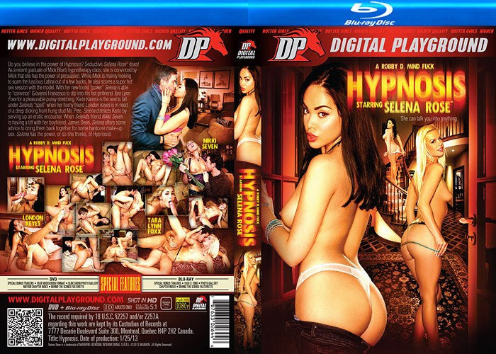 Selena Rose Hypnosis - Digital Playground Blu Ray New DVD in Sleeve