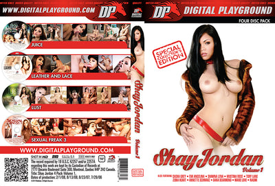 Shay Jordan Collection #1  - Digital Playground Sealed 4 DVD Set