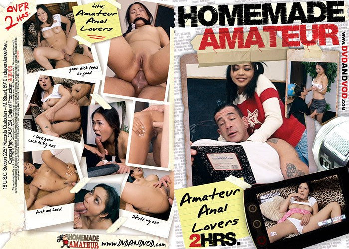 Amateur Anal Lovers  - Homemade Amateurs DVD