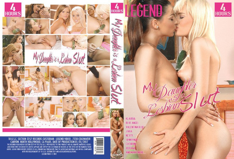 My Daughter is a Lesbian Slut - 4 Hour Legend Adult XXX 2016 DVD in White Sleeve