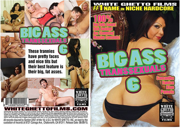 Big Ass Transsexuals #6 - White Ghetto Cheap Adult DVD in Sleeve