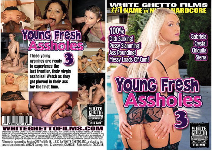 Young Fresh Assholes #3 - White Ghetto Cheap Adult DVD
