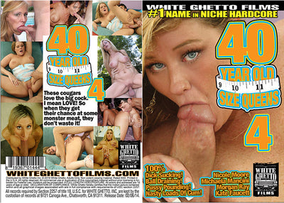 40 Year Old Size Queens 4 White Ghetto - Sealed DVD
