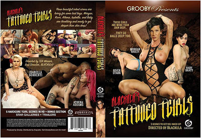 Blackula's Tattooed TGirls Grooby - Tranny Sealed DVD