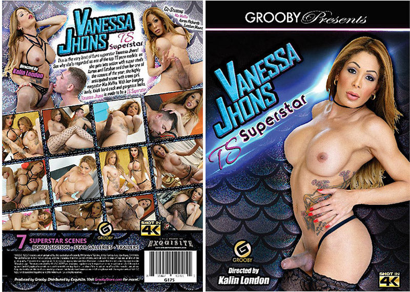 Vanessa Jhons TS Superstar  - Grooby Sealed Transsexual DVD