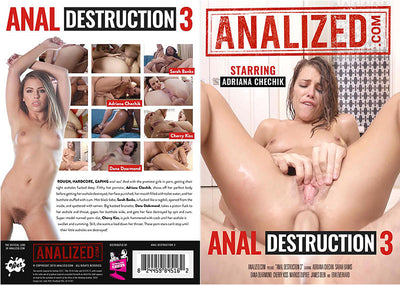 Anal Destruction 3 Analized - Anal  - Sealed DVD