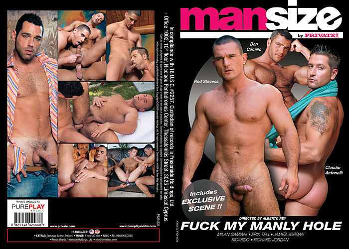 Fuck My Manly Hole - Man Size Private Sealed Gay DVD