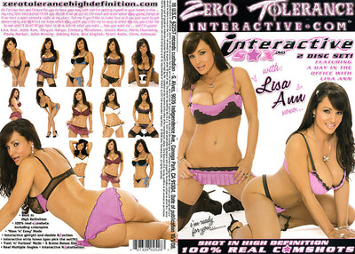 Interactive Sex Interactive Sex With Lisa Ann (2 Disc Set) Sealed DVD