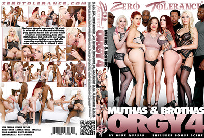 Muthas & Brothas Orgy #4 - Zero Tolerance Sealed DVD