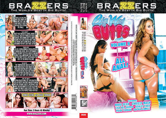 Big Wet Butts #9 (christy mack)  2013 Brazzers Sealed DVD